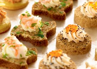 40 Seafood assortment canapés